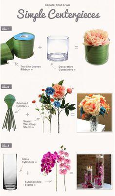 DIY Wedding Simple Centerpieces   Submersible Orchid Centerpiece