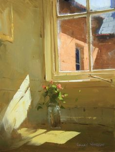 "'A March Moment' - by Colley Whisson ""I have a thing for windows and chairs in artwork. Paintings I Love, Beautiful Paintings, Interior Paint Colors, Interior Painting, Yellow Interior, Brown Interior, Interior Ideas, Painting Techniques, Painting Tips"