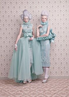 Baroque inspired editorial / pastels ♥ I would love to do something like this for the 3 Ladies!