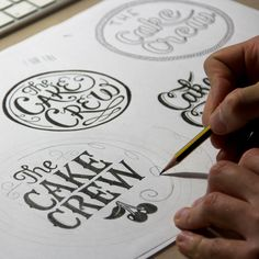 The Cake Crew, by Tobias Hall, illustration, drawing, type, hand lettering, calligraphy, font, logo, design, typography