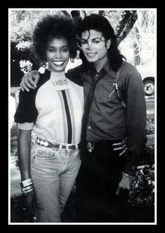 Whitney Houston With Michael Jackson in 1988.