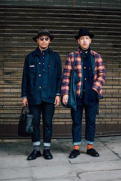 Street Style at SS 2018 Menswear Fashion Week in London.