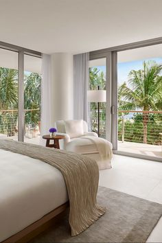 #MiamiBeach #EDITION - all 294 beach-chic guestrooms and 23 bungalows have white furnishings and sand-hued accents. #Jetsetter