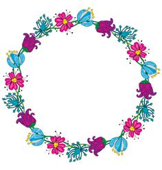 Floral wreath vector by nahhan on VectorStock®