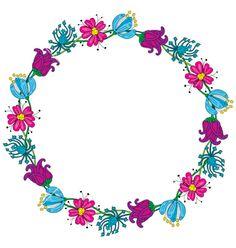 Floral wreath vector by nahhan on VectorStock®