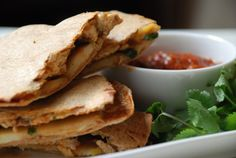 Chicken Apple Quesadilla: 1 cup shredded cooked chicken 1 cup shredded ...