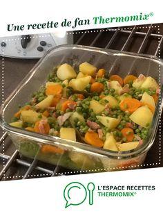 Jardinière de légumes aux petits lardons par catlhylolo. Une recette de fan à retrouver dans la catégorie Accompagnements sur www.espace-recettes.fr, de Thermomix<sup>®</sup>.