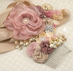 Dusty Rose Sash, Bridal, Blush, Champagne, Tan, Cream ...