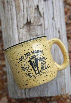 TAKE NO BULL COFFEE MUG - Junk GYpSy co.