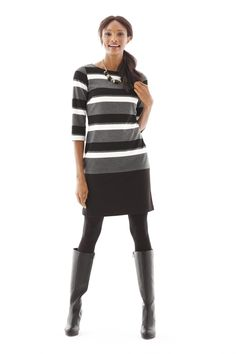 Our striped sheath dress brings chic, versatility to your workday wardrobe.