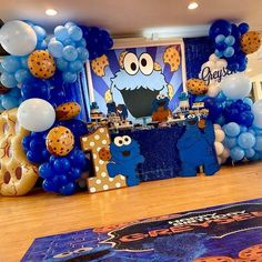 Cute cookie monster 1st birthday party decorations. Photo shared by Wholesale Wedding/Event Decor on May 18, 2021 tagging @mammashakur1. May be an image of balloon, table and indoor. 1st Birthday Boy Themes, Birthday Party Treats, 1st Birthday Party Decorations, Superhero Birthday Party, Dinosaur Birthday, Boy Birthday Parties, Monster 1st Birthdays, Safari Party, Cookie Monster