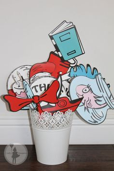 Dr. Seuss Inspired Party Photo Booth Props Package