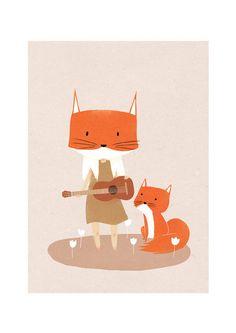 APER TOY & ILLUSTRATION: Muki Shungila. The fox Child.