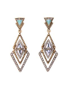 Meridian Marble Pave Stone Statement Earrings