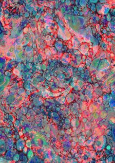 Opalescent Marble Art Print