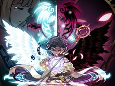 Luminous Ender Fantasy Characters, Anime Characters, Anime Chibi, Anime Art, Character Inspiration, Character Design, Video Game Anime, Angel And Devil, Anime Toys