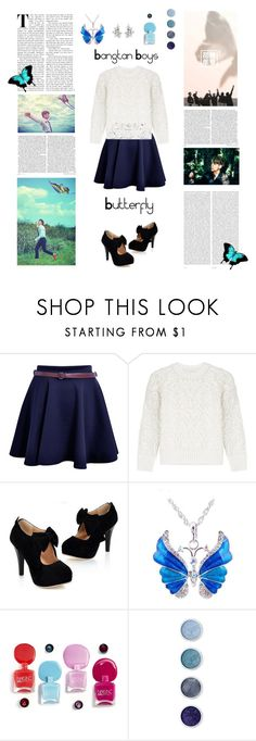 """•Butterfly•"" by ohkpopper ❤ liked on Polyvore featuring Oris, Victoria, Victoria Beckham and Terre Mère"