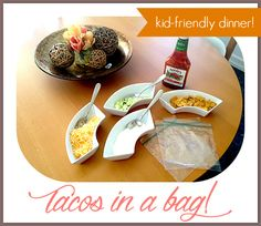 tacos in a bag recipe.  great for kids and parties.
