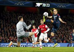 Champions League: Robben, FC Bayern München against Arsenal London. Arsenal - Bayern 0:2 #Bayern #BayernMünchen #FCBayern #Arsenal #ArsenalLondon #Robben #Football #Soccer #Fussball #ChampionsLeague #CL