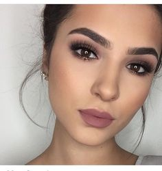 beautiful makeup brown eyes