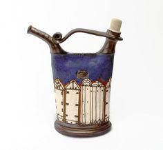 Teapot pottery Water pitcher. Ceramic pitcher. by DankoHandmade