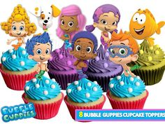 Bubble Guppies Cupcake toppers/ Bubble guppies by VICTORSTORE