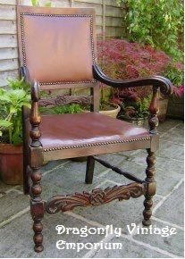 Dragonfly Vintage Emporium - Ornate carver chair