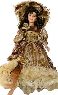 Victorian Porcelain Doll-Stunning Victorian doll-Porcelain Victorian Doll-Babbette