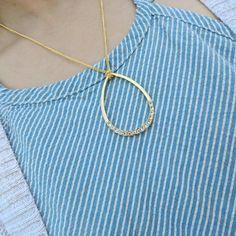 Gold Teardrop Necklace by Eternal Sparkles
