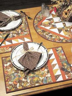 This placemat set pattern is very easy, and would be great for beginners to start out with.