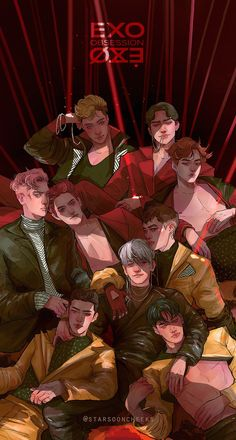 Blacken my heart creepin' dark night🖤 Kpop Exo, Exo Xiumin, Kaisoo, Chanbaek, Wallpapers Kpop, Exo Cartoon, Exo Anime, Exo Album, Exo Fan Art