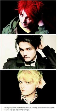Red, black, or blond, he's so hot when he touches his hair! <<< Well... Can you name one moment he wasn't hot?