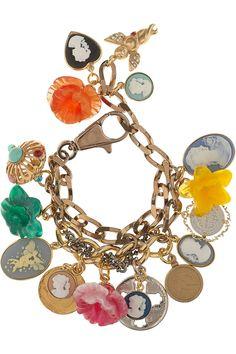 Dolce & Gabbana cameo charm bracelet--I love this!!!