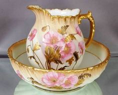 enchanted-barnowlkloof:  Beautiful bowl and pitcher source:BJ's Secret Place
