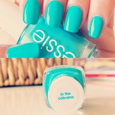essie in the cab-ana. LOVE this color. So fun for summer.