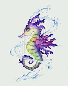 Whimsical seahorse