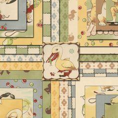 "charm pack Moda LIL RASCALS squares 5"" fabric Chloe's Closet. $9.50, via Etsy."