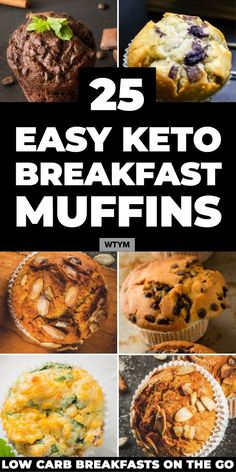 Low Carb Recipes To The Prism Weight Reduction Program The Best Easy Keto Breakfast Recipes On The Go 25 Keto Breakfast Muffins Made With Almond, Coconut Flour and Cream Cheese In All Your Favorite Sweet and Savory Flavors: Blueberry, Chocolate, Cinnamon, Keto Breakfast Muffins, Low Carb Breakfast Easy, Ketogenic Breakfast, Healthy Breakfast Recipes, Healthy Recipes, Breakfast Ideas, Breakfast Casserole, Breakfast Biscuits, Breakfast Hash