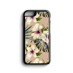 iPhone Case Hibiscus Painting For iPhone 4, iPhone 5, iPhone 5c, iPhone 6, iPhone 6 Plus with FREE iPhone Tempered Glass Screen Protector*