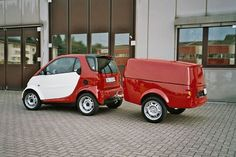 model 450 smart car with clever trailer