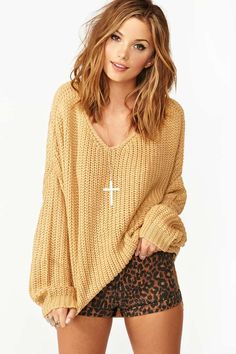 Nasty Gal Cambridge Knit - Camel in Small/Med