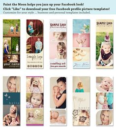 FREE facebook fan page profile picture templates from Paint the Moon