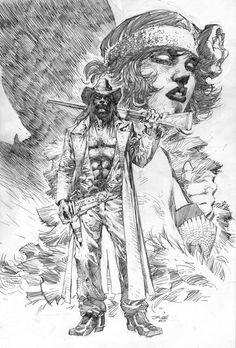 American Vampire cover by Jim Lee
