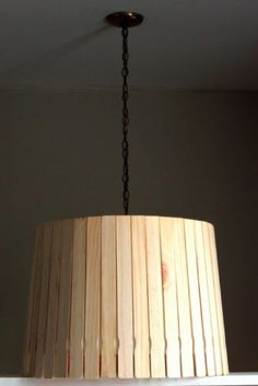 Diy removable lampshade cover crafty lamps lighting lattes de bois cerretti 22 aloadofball Choice Image