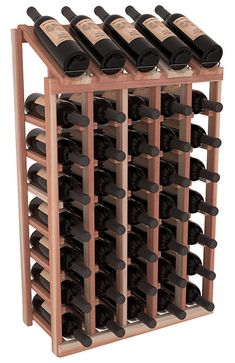 Handmade Wooden 24 Bottle Display View Wine Rack Kit in Premium Redwood. 13 Stain Combinations to Choose From! – Alejandro - Hand Made Wine Racks America, Bar A Vin, Bottle Display, Cheap Wine, Wine Storage, Craft Stick Crafts, Wine Cellar, Caves, Handmade Wooden