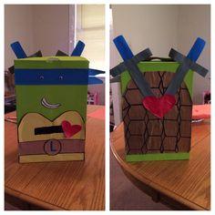 Ninja turtle Leonardo valentines box
