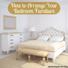 Arranging furniture is an art form. With some thought and experimentation, you can put together the perfect room. After all, that is part of the fun when moving into a new place. Here is advice on how to arrange your bedroom furniture.