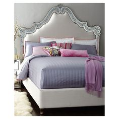 Cynthia Rowley for Hooker Furniture Venetian Mirrored Beds, Mystique... ❤ liked on Polyvore featuring home, furniture and beds
