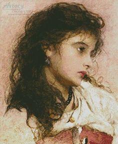 A Gypsy Girl cross stitch chart