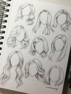 Karakalem Saç Çizim Teknikleri - Hair Style Pencil Drawing Hair Drawing Techniques - the Pencil Art Drawings, Art Drawings Sketches, Drawings Of Hair, Girl Hair Drawing, Drawings Of Dresses, Hair Styles Drawing, Realistic Hair Drawing, Long Hair Drawing, Human Face Drawing